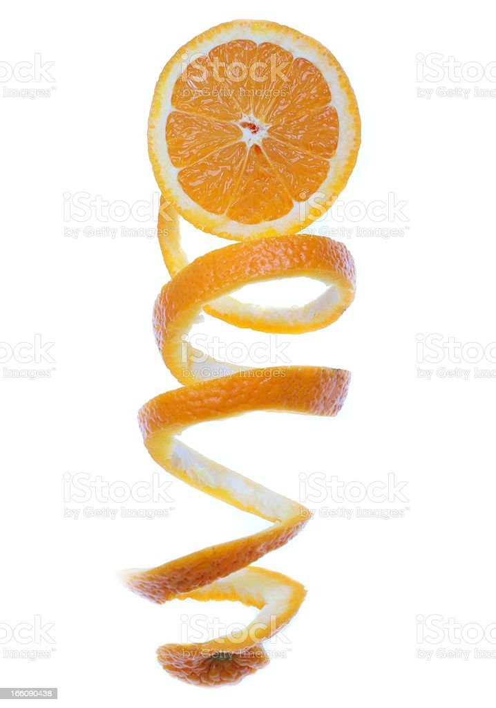 orange isolated stock photo