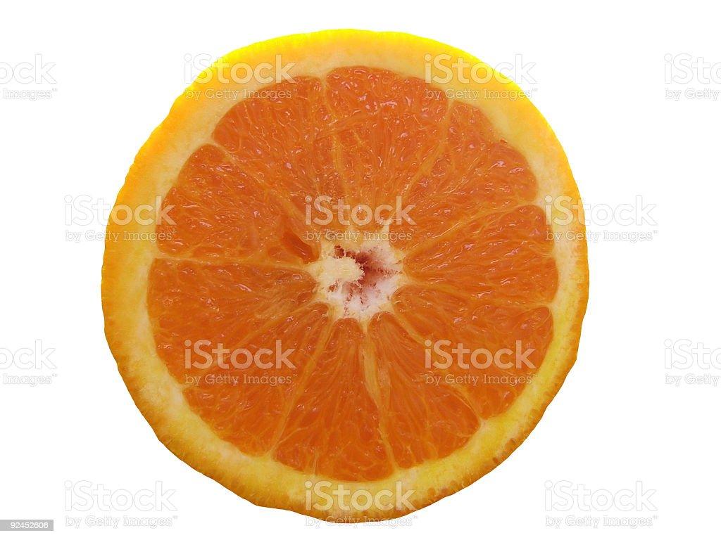 Orange isolated stock photo