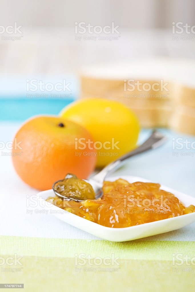 Orange jam breakfast royalty-free stock photo