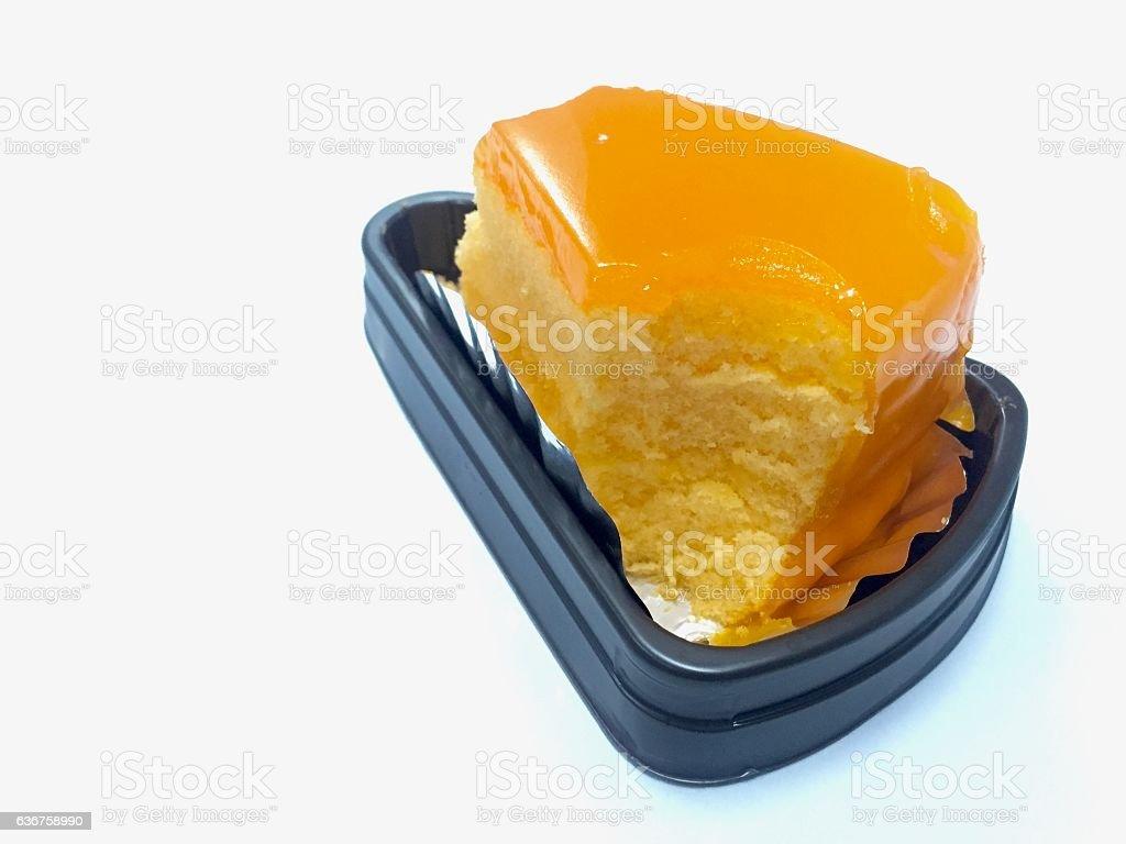 Orange jam cake stock photo