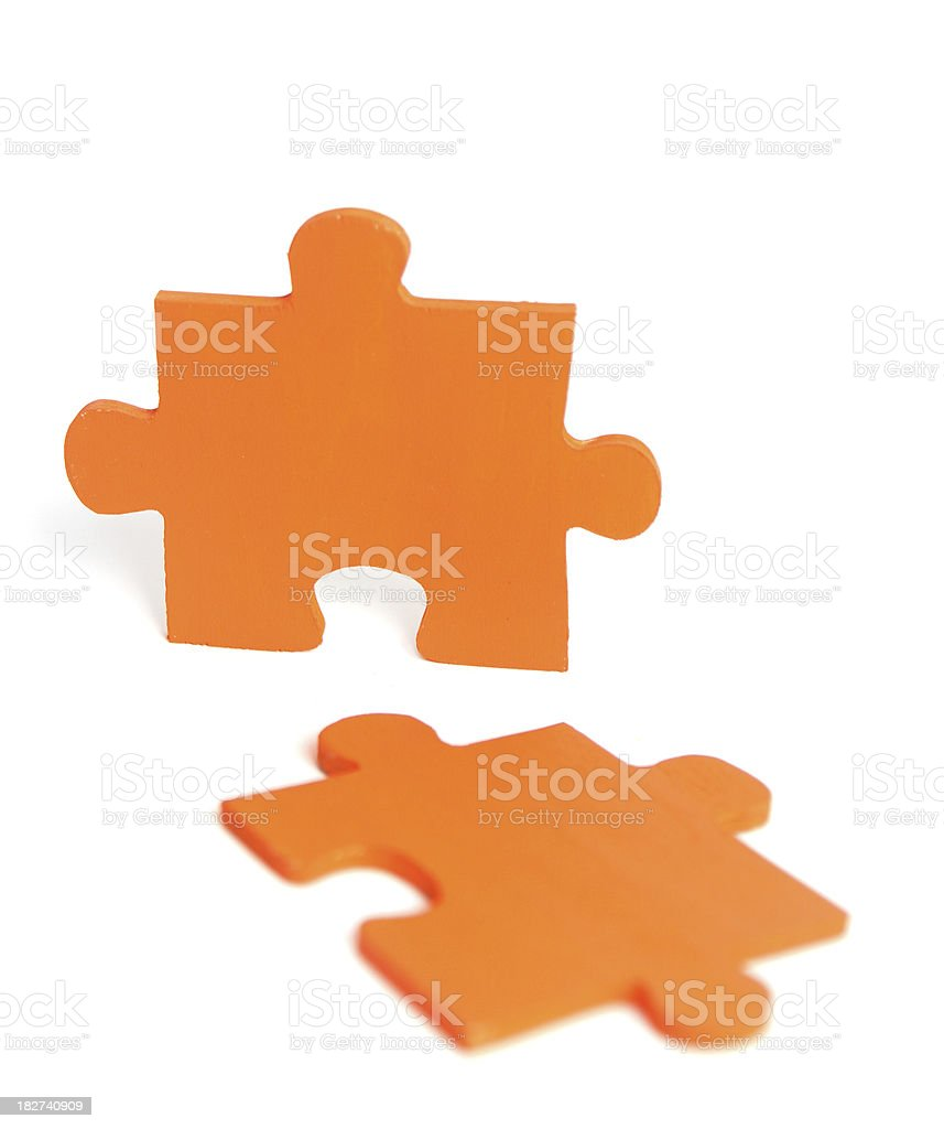 Orange Jigsaw Puzzle Piece stock photo