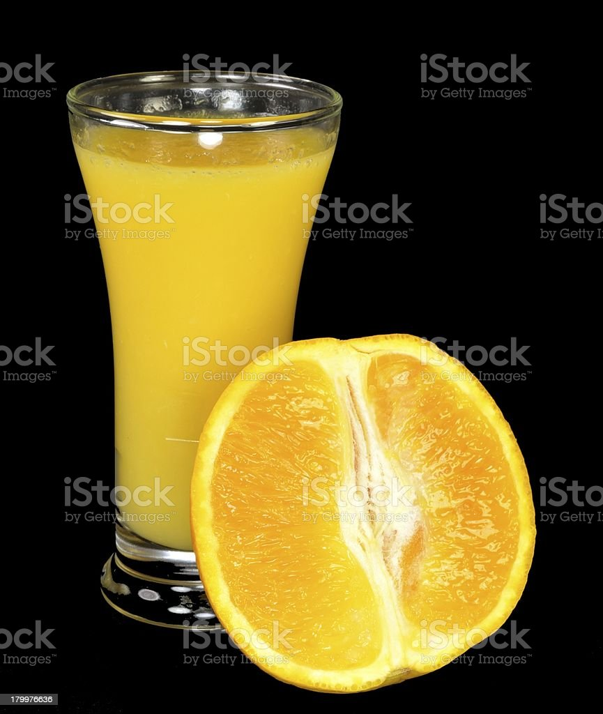 Orange juice and slice royalty-free stock photo