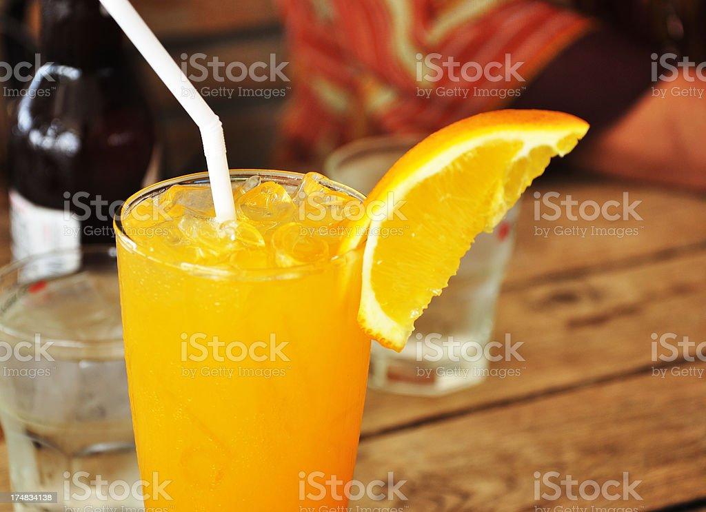 Orange juice drink royalty-free stock photo