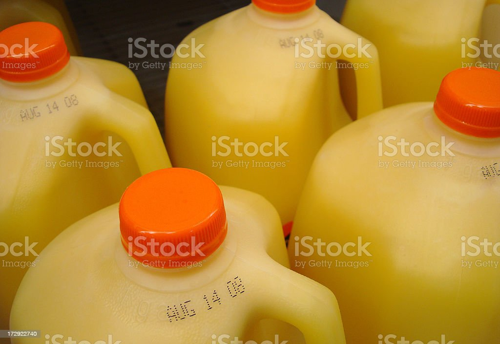 Orange Juice Gallons & Dated royalty-free stock photo
