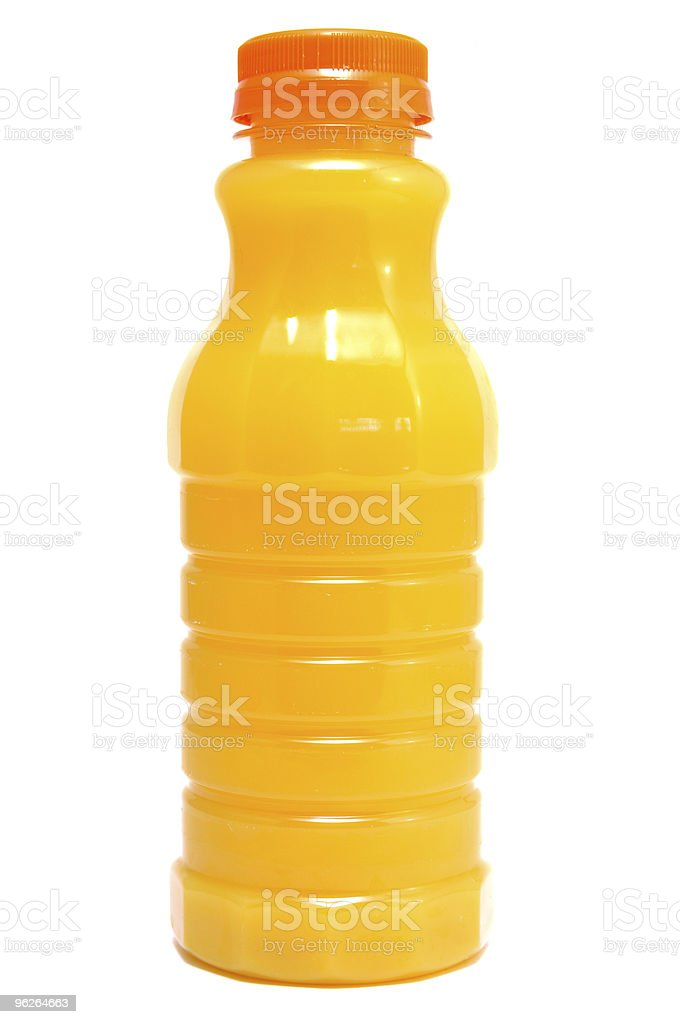 Orange Juice in a Bottle stock photo