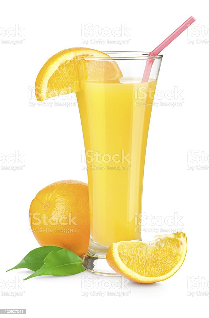 Orange juice in a glass royalty-free stock photo