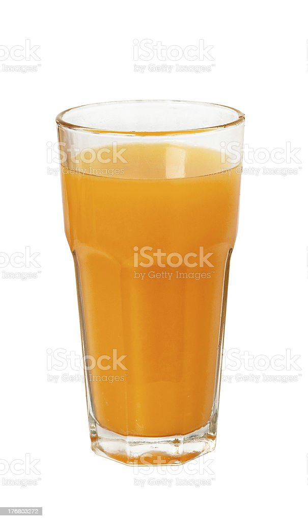 Jugo de naranja en vidrio foto de stock libre de derechos