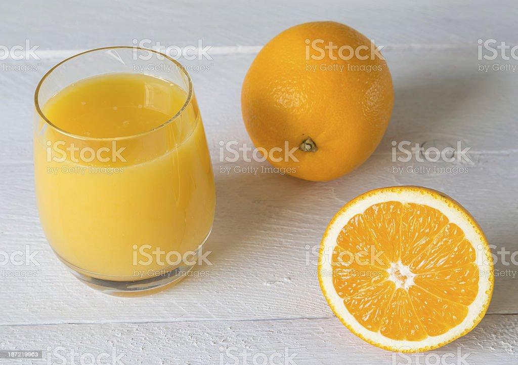 Orange juice in glass royalty-free stock photo