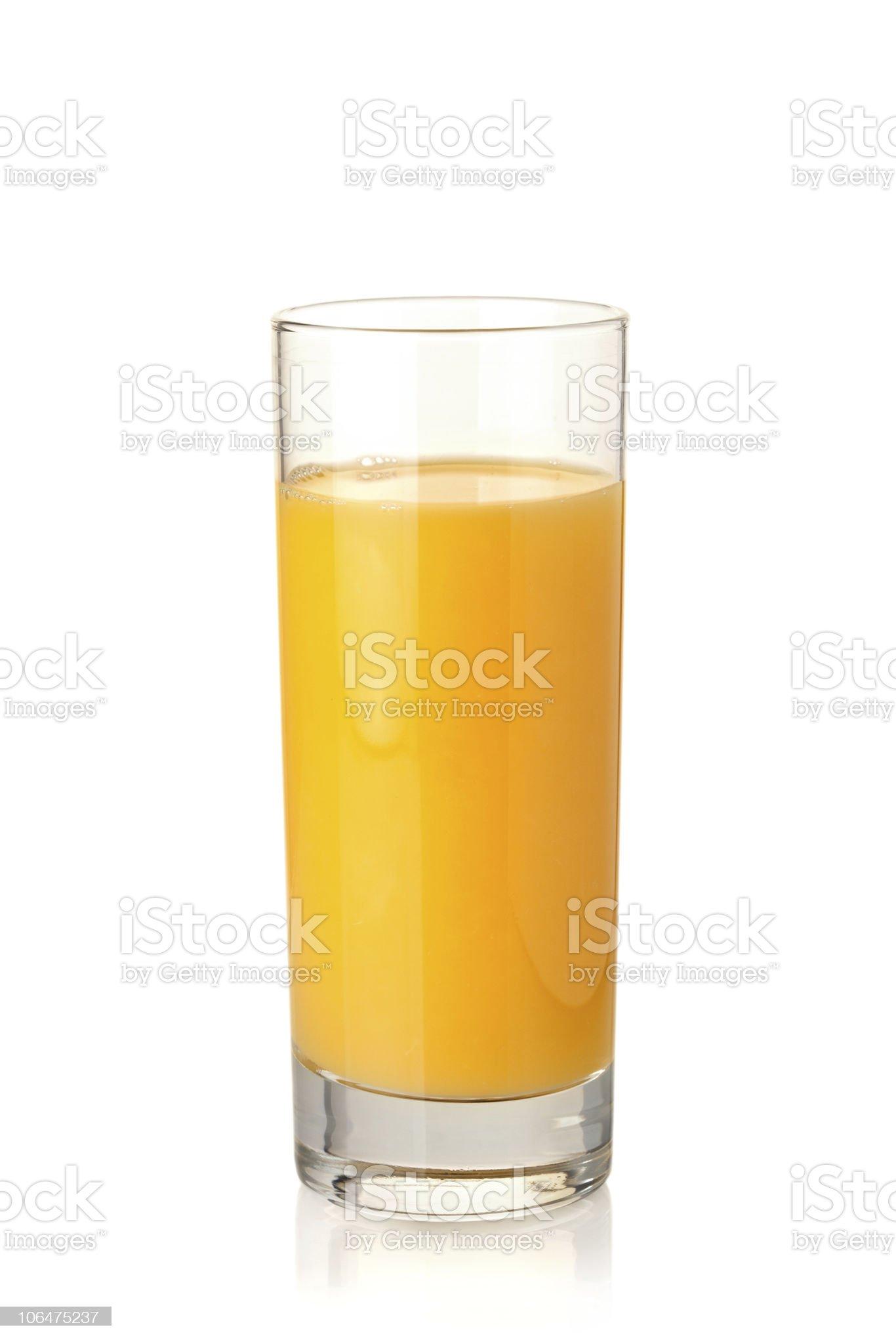 Orange juice in highball glass royalty-free stock photo