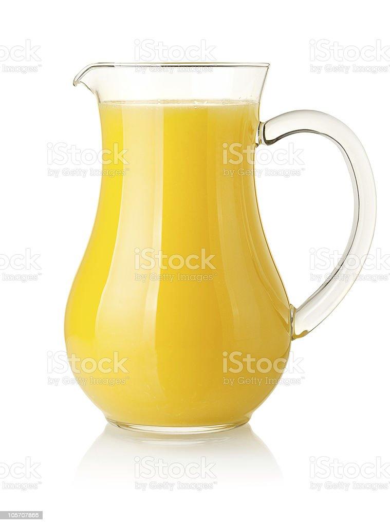 Orange juice in pitcher stock photo