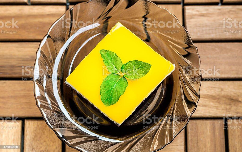 Orange Juice Jello Cake stock photo