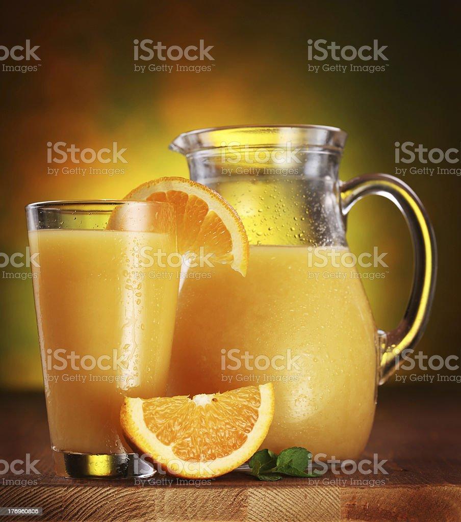 Orange juice. royalty-free stock photo