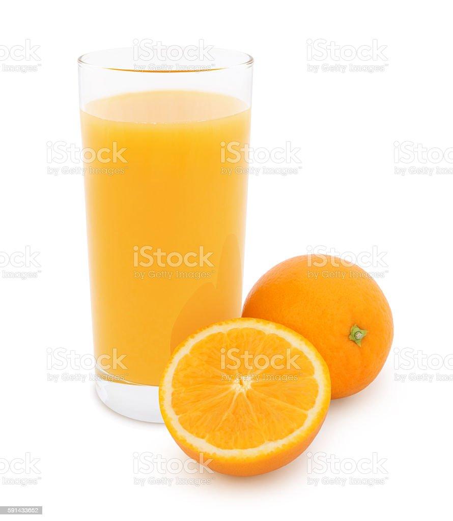 Orange Juice (with path) stock photo