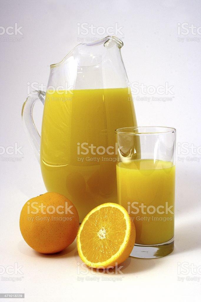Orange Juice Pitcher stock photo