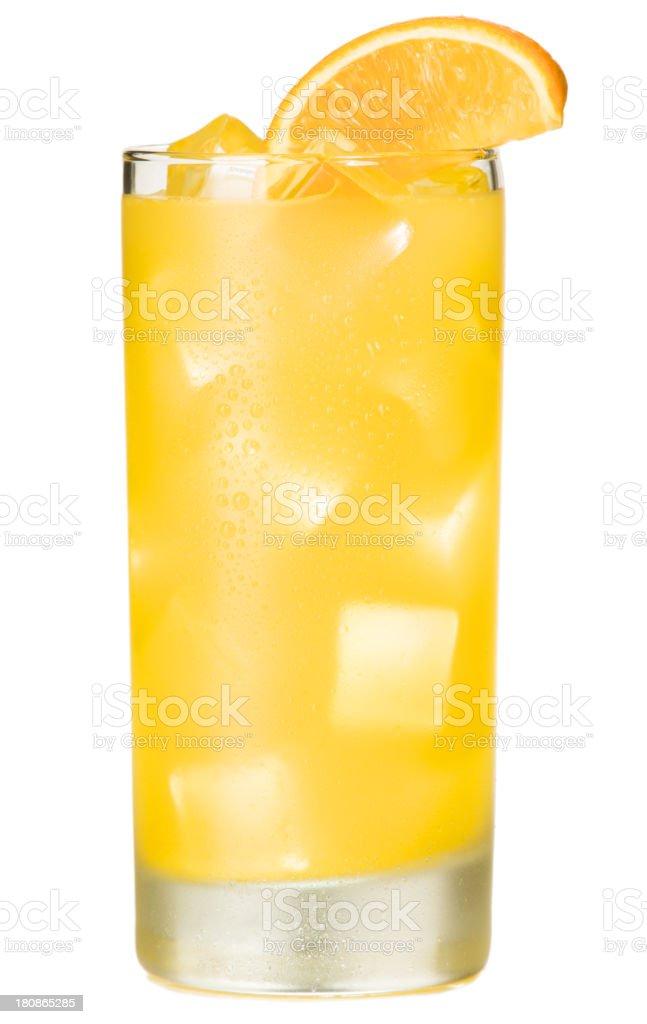 Orange Juice Screwdriver Cocktail on White stock photo