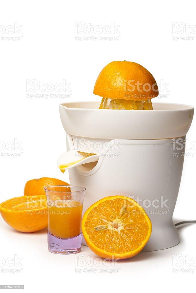 Orange juicer isolated on white stock photo