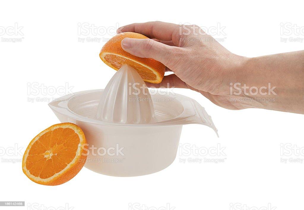 Orange Juicing stock photo
