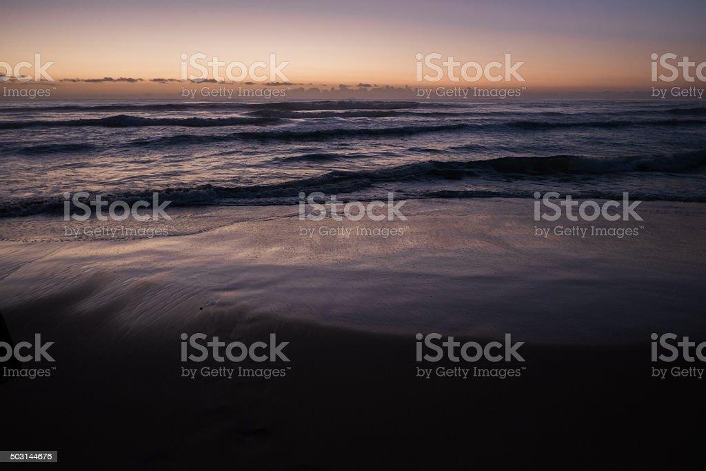 Orange Kauai Sunrise stock photo
