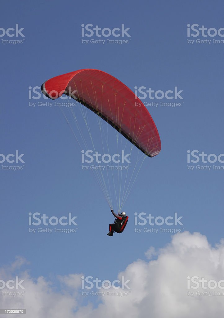 Orange kite flier royalty-free stock photo
