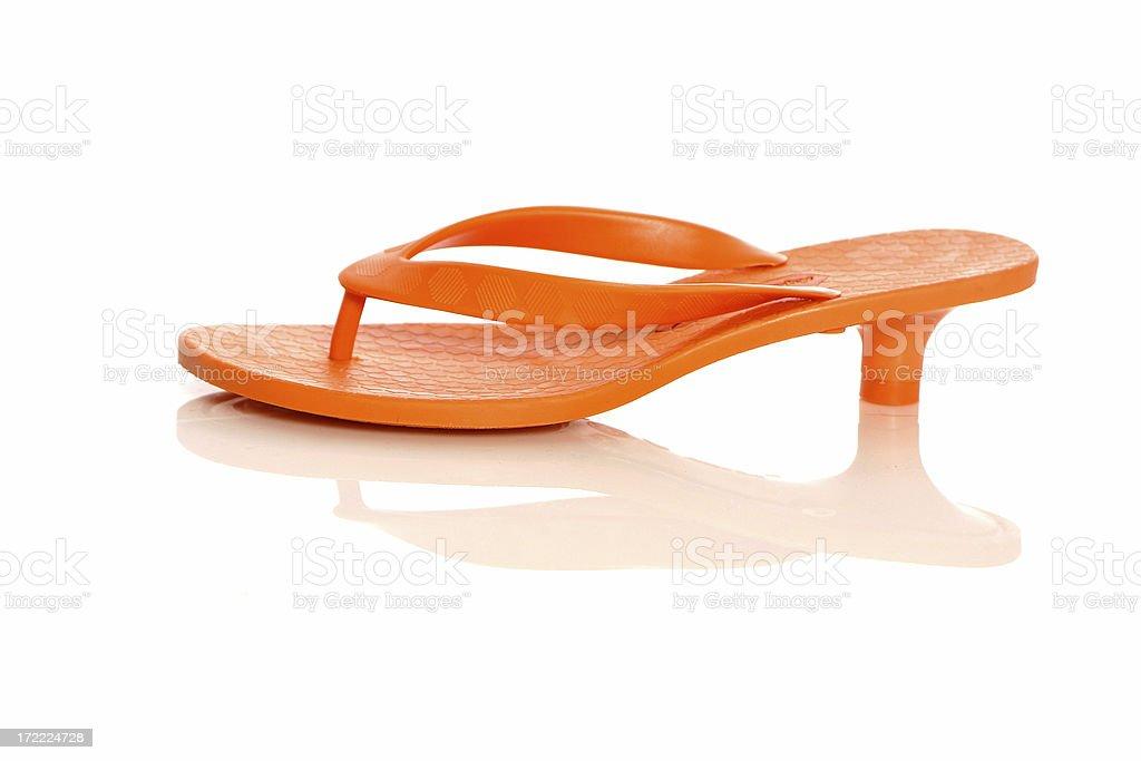 Orange Kitten Heel Flip Flop stock photo