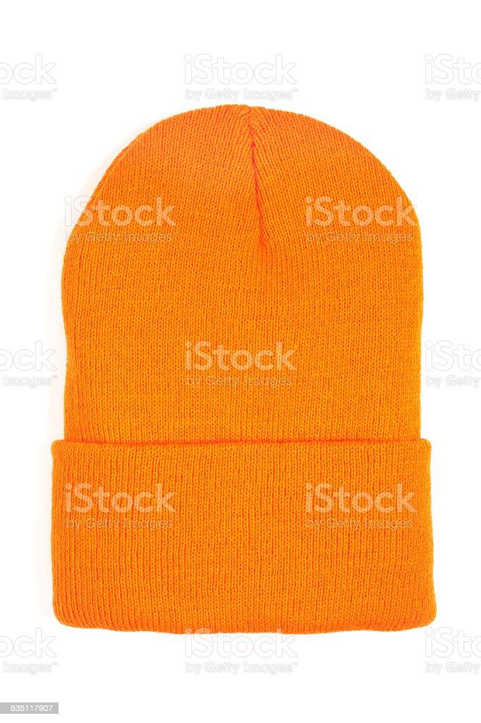Orange Knit Hat stock photo