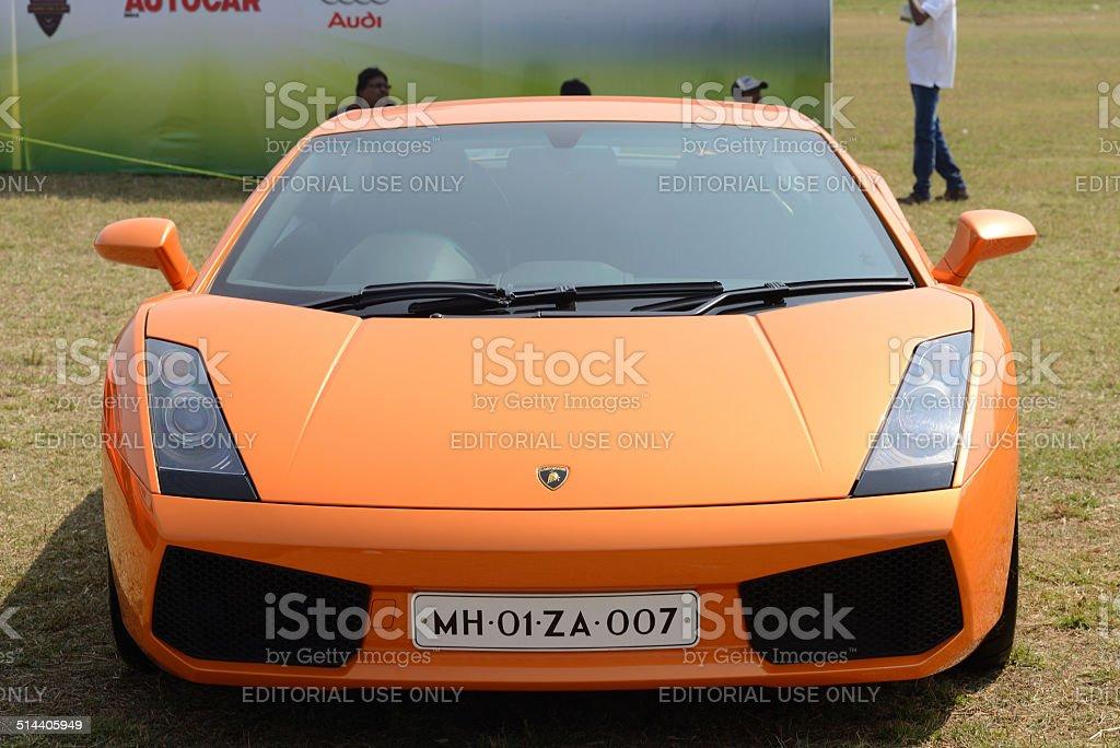 Orange Lamborghini Gallardo stock photo