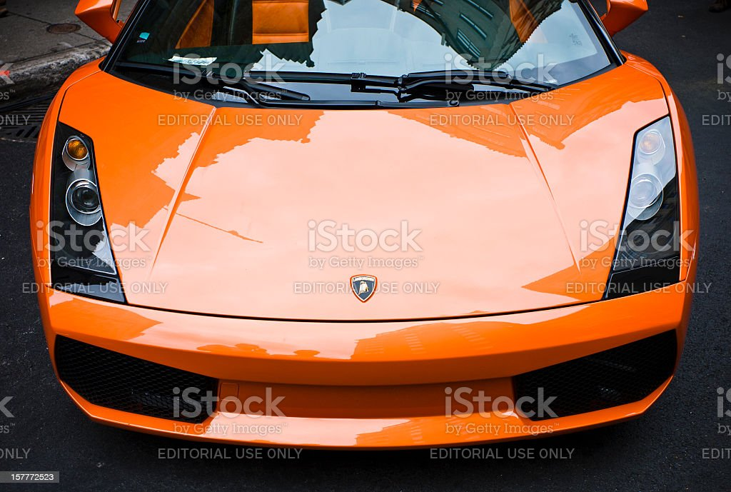 2006 orange Lamborghini Gallardo Spyder stock photo