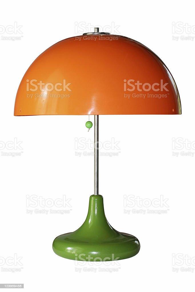 orange lamp stock photo