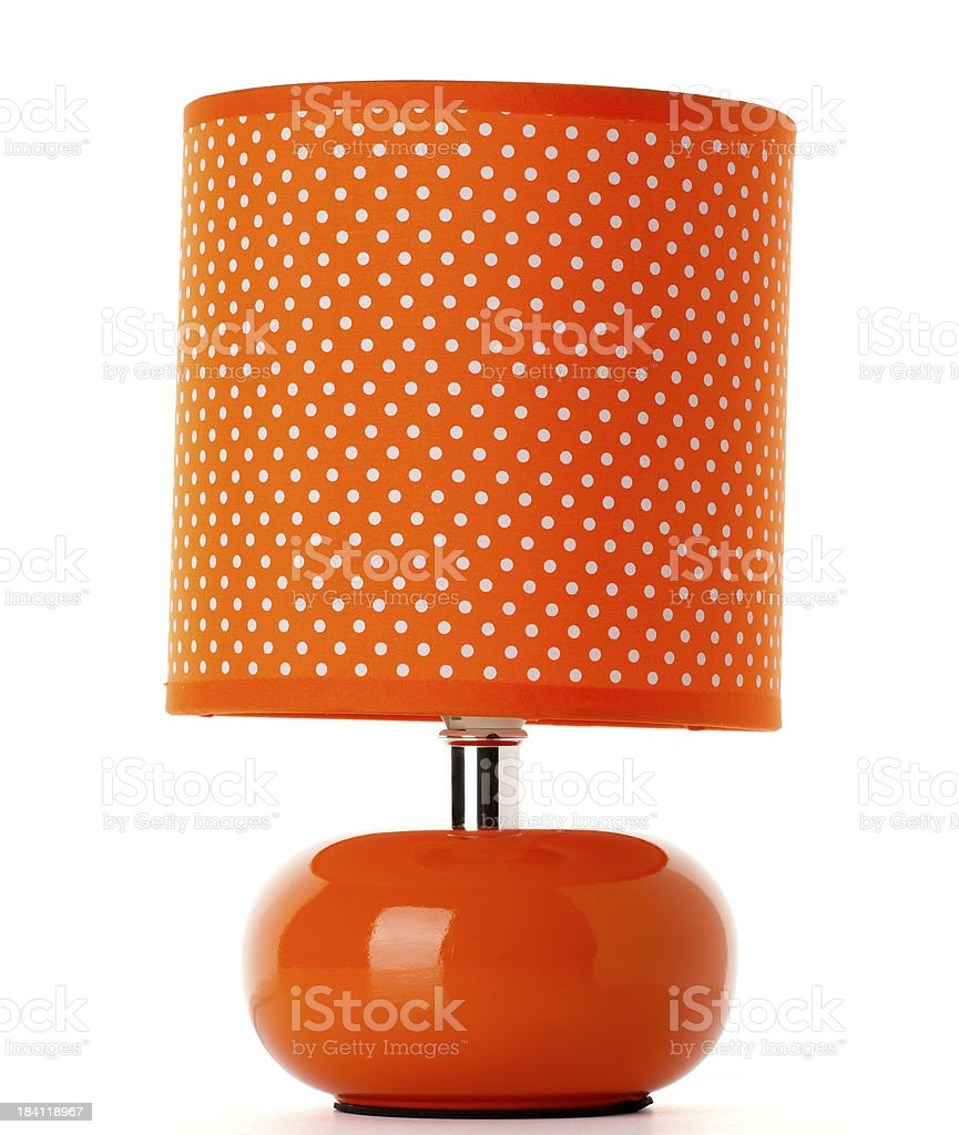 Orange Lamp royalty-free stock photo