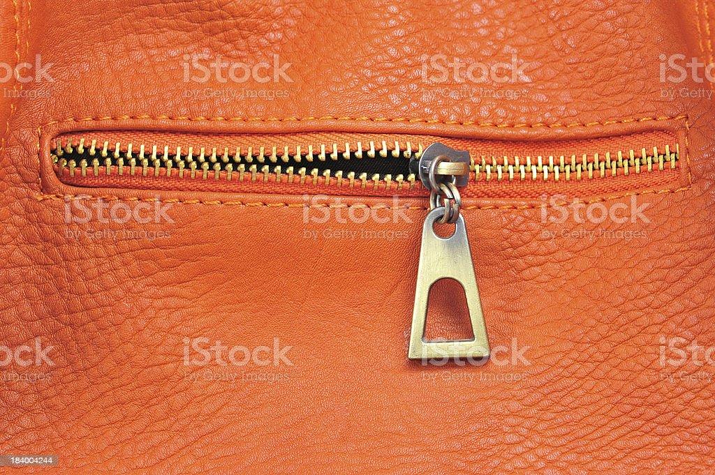 orange leather royalty-free stock photo