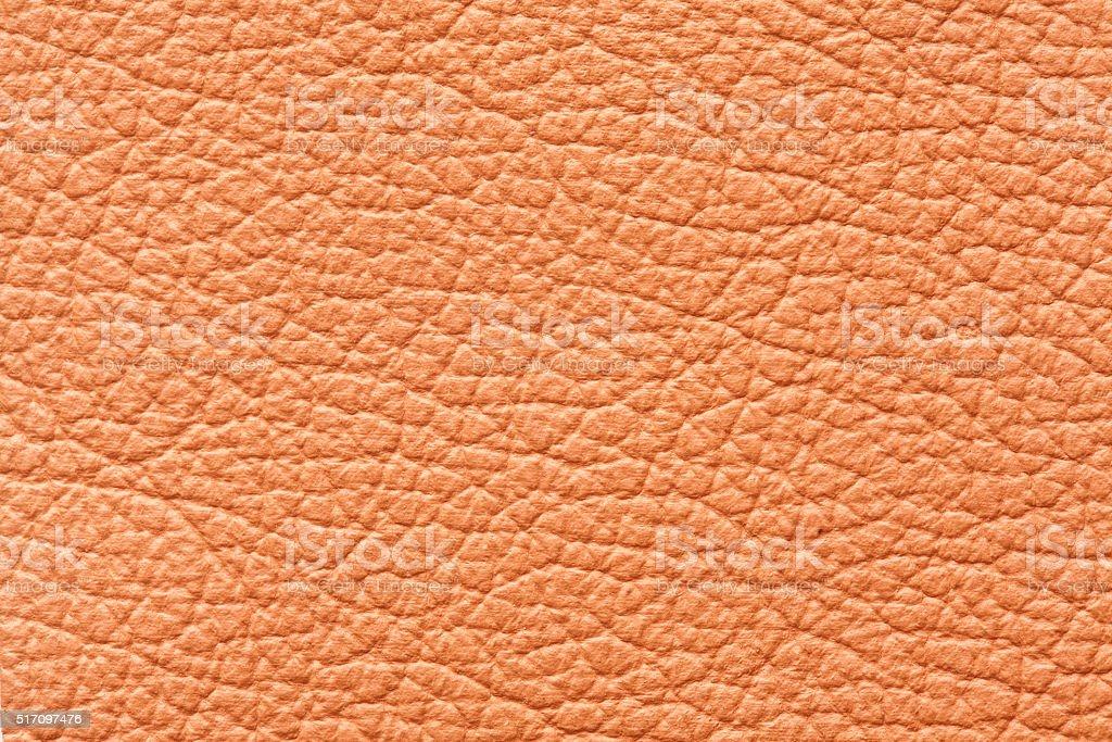 Orange leather texture stock photo