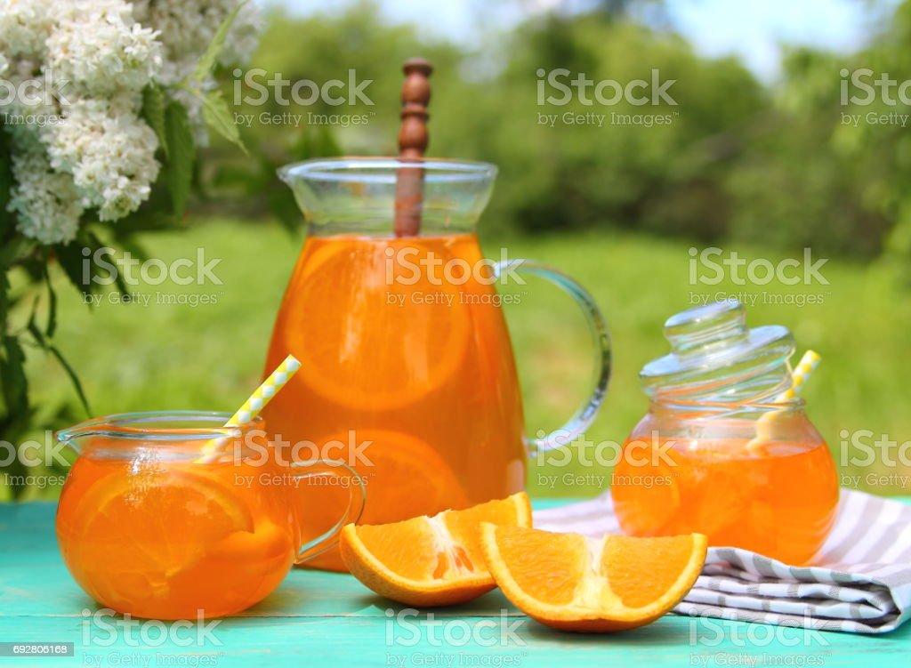 Orange lemonade stock photo