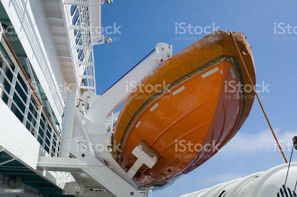 Arancio scialuppa di salvataggio foto stock royalty-free