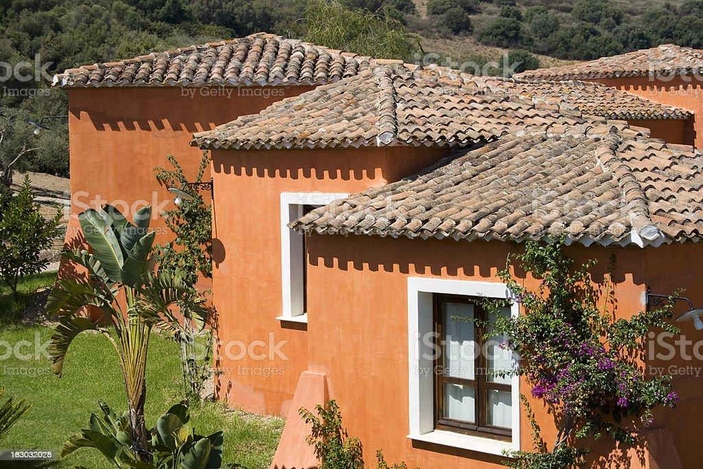 orange little houses royalty-free stock photo