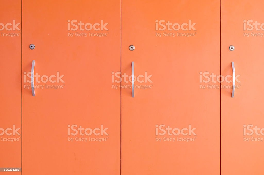orange locker door stock photo
