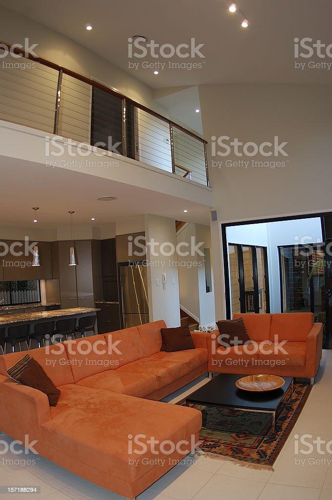 Orange Lounge stock photo