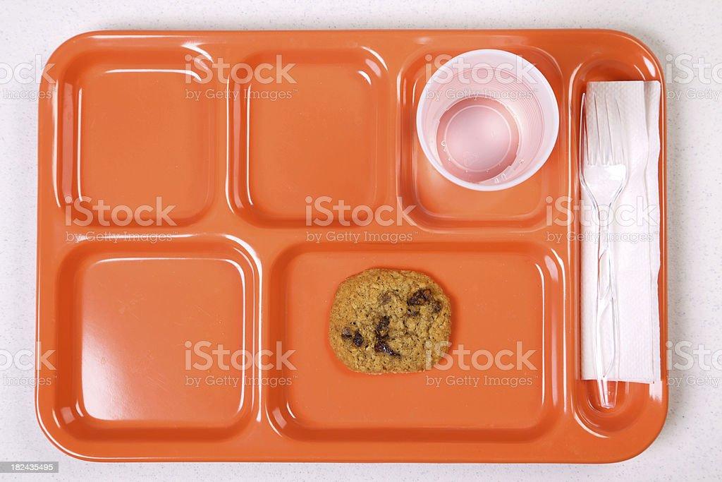 orange lunch tray diet series stock photo