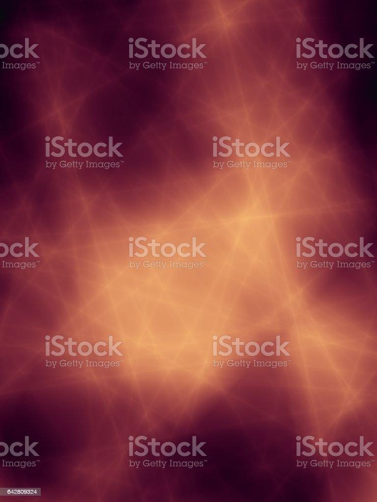Orange magic abstract lightning pattern design stock photo