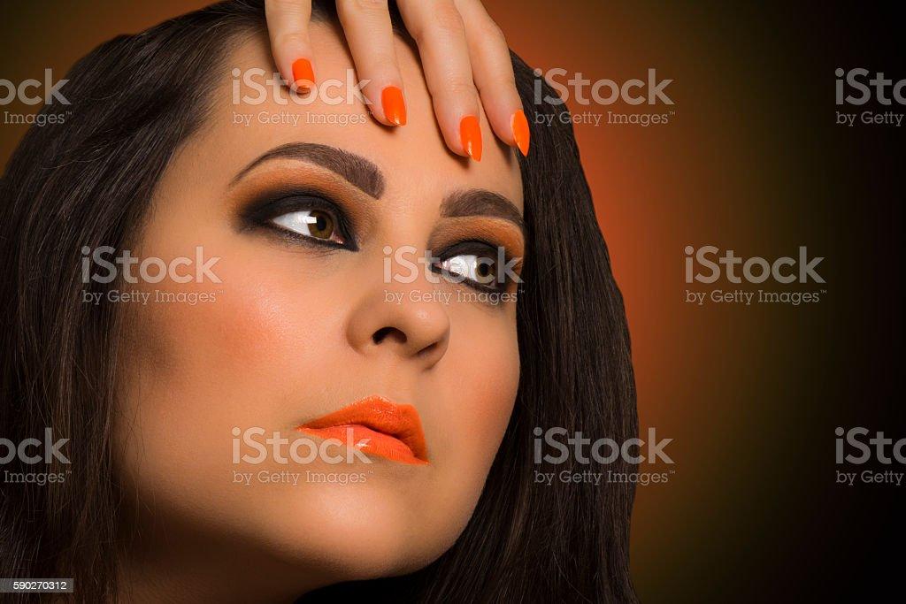 orange make up stock photo