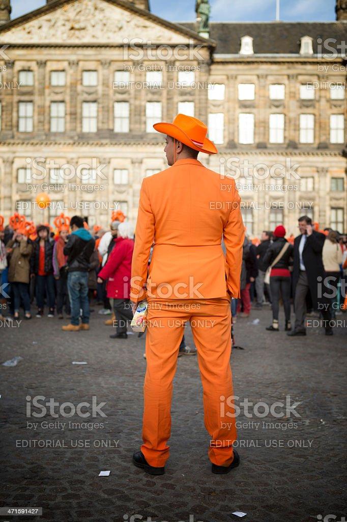 Orange man royalty-free stock photo