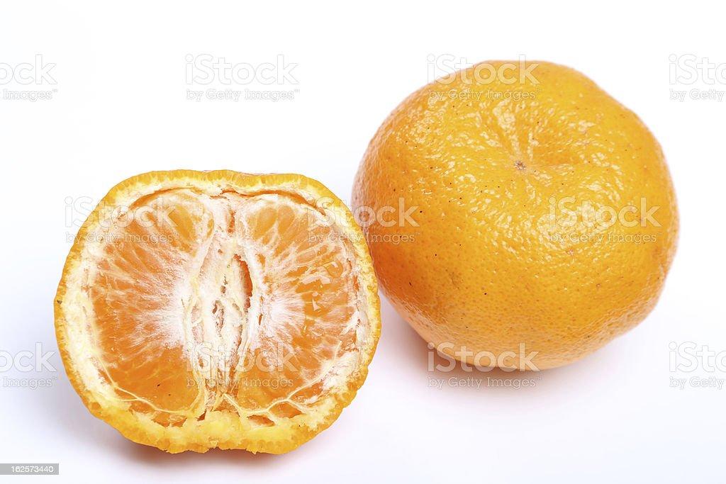 Orange mandarin or tangerine fruit royalty-free stock photo