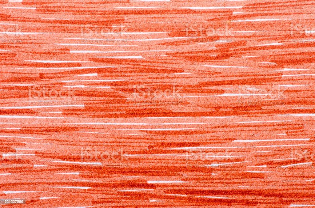 orange marker doodles on white paper background stock photo