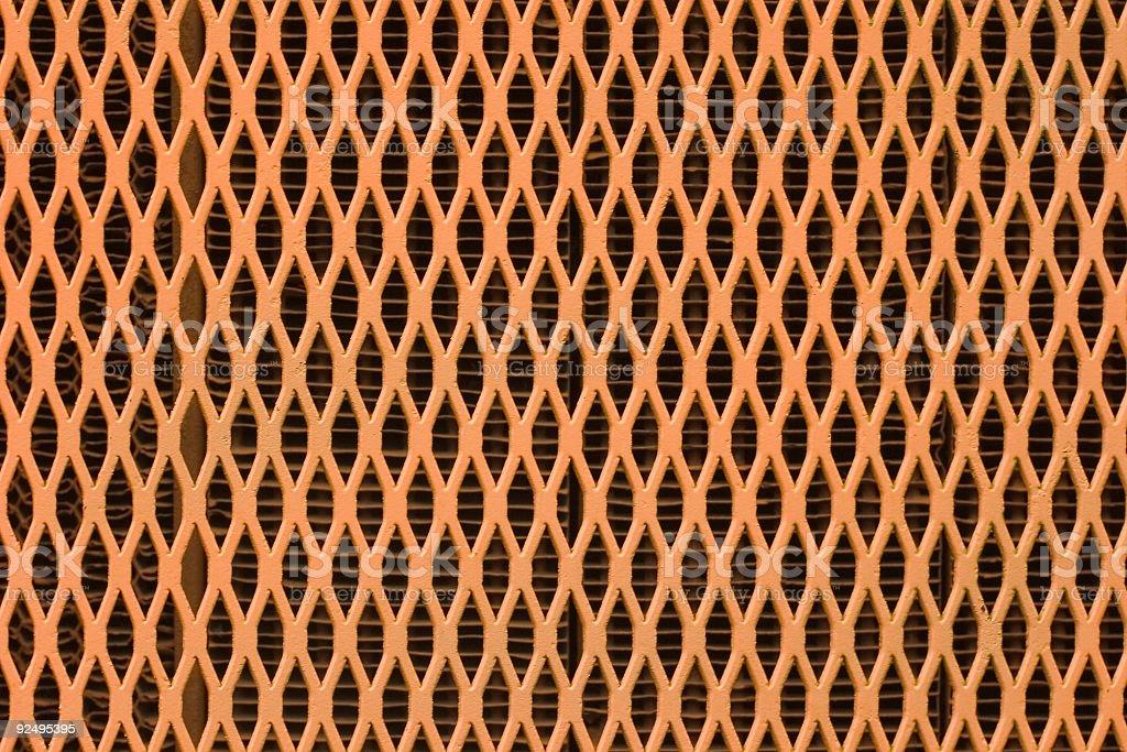 Orange Metal Grate royalty-free stock photo