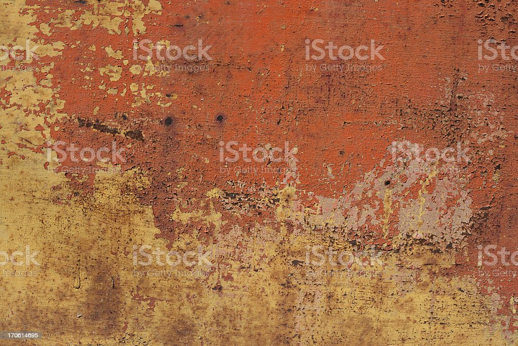 Orange Metal Texture royalty-free stock photo