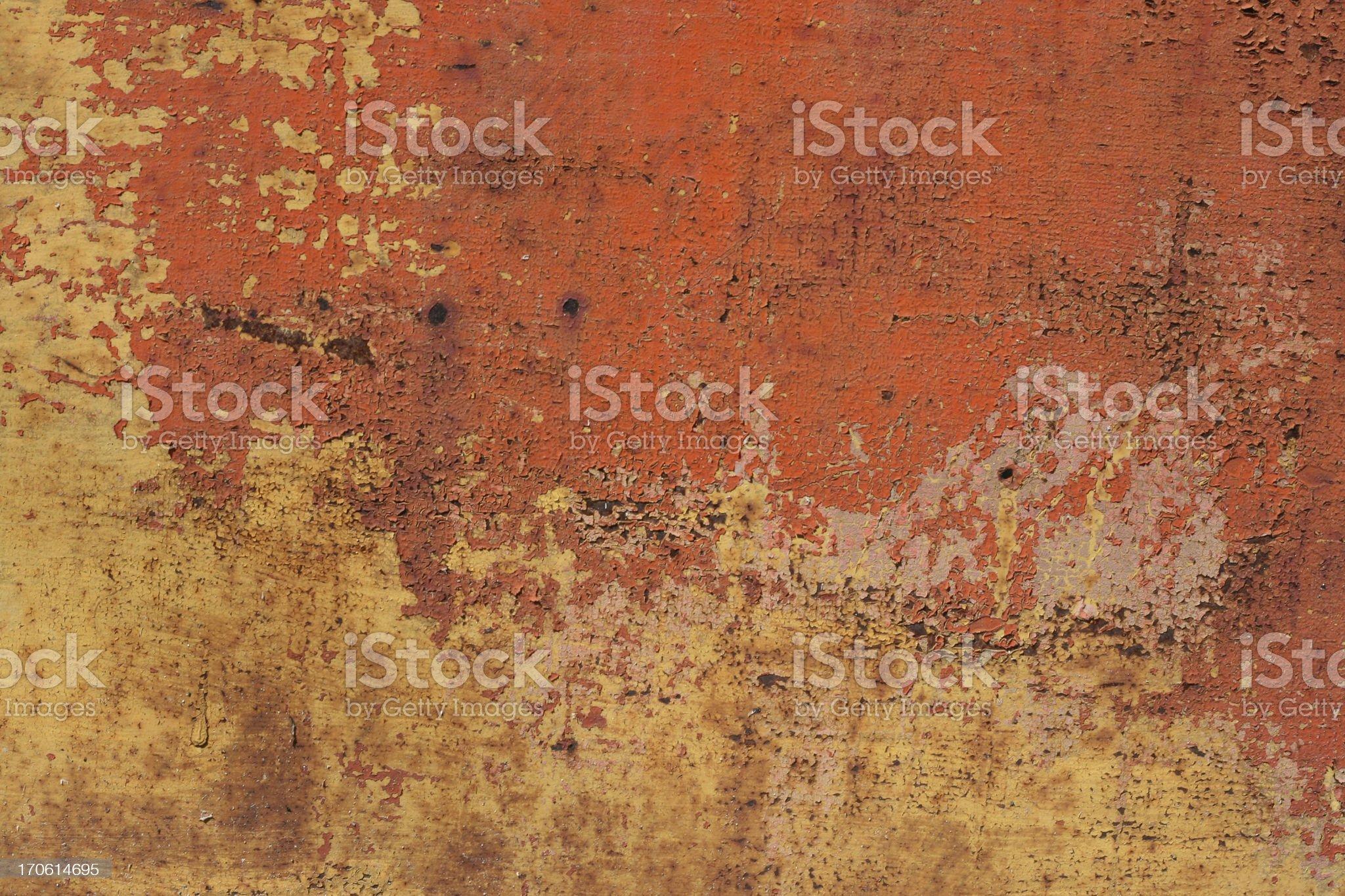 Orange Metal Texture royalty-free stock photo
