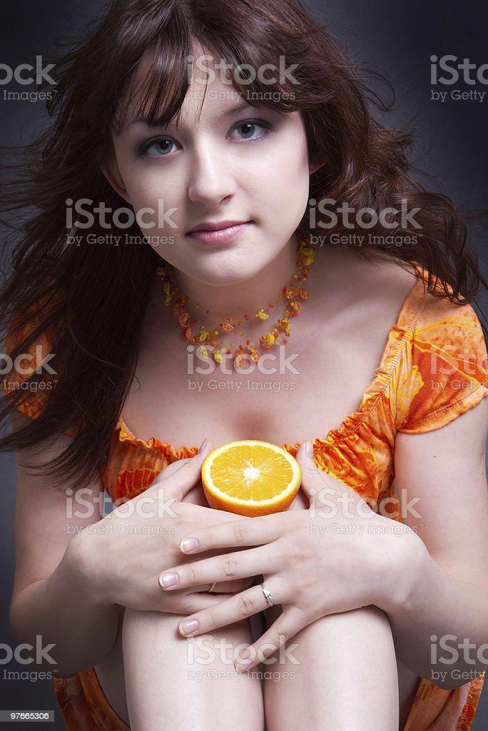 Orange mood royalty-free stock photo