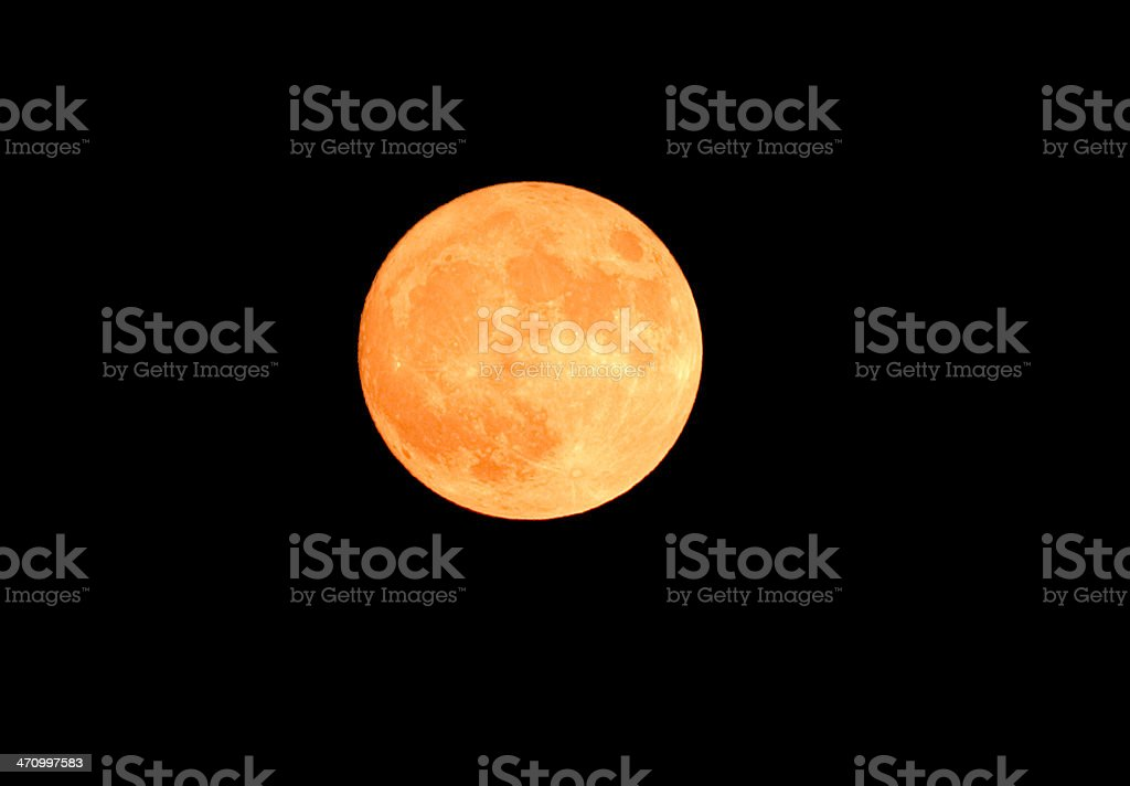 Orange Moon stock photo