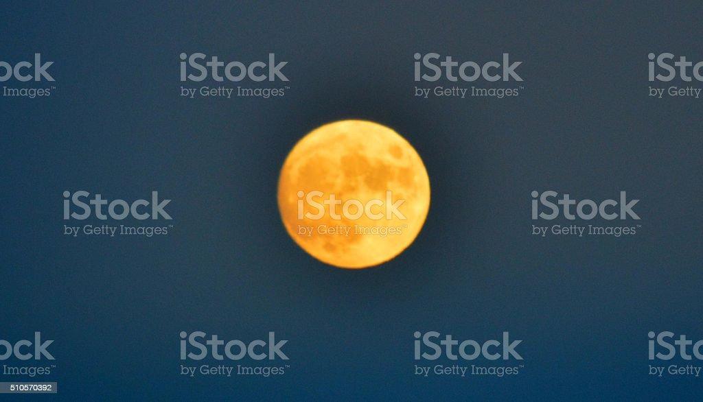 Orange Moon photo libre de droits