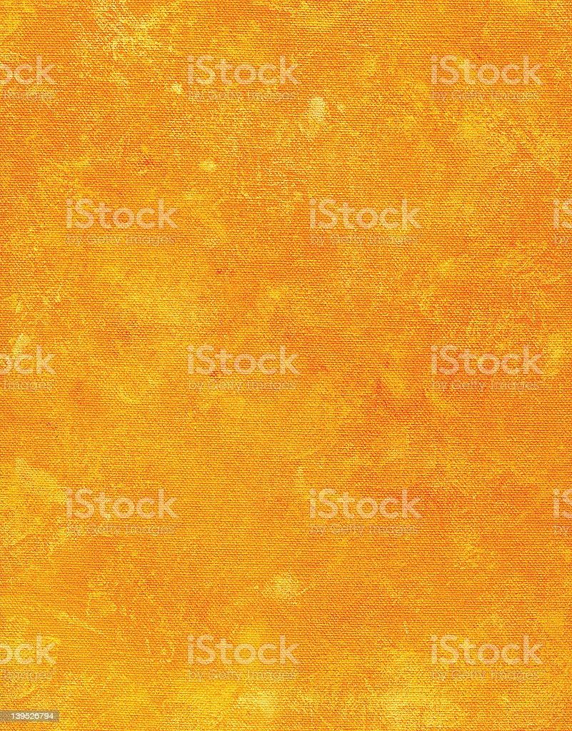 orange mottled painted canvas stock photo