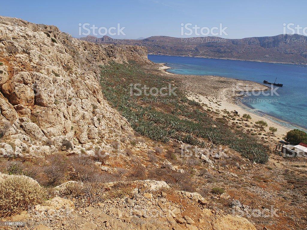 Orange mountains stock photo